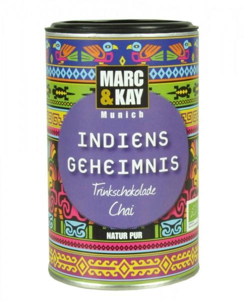 """Bio Trinkschokolade """"Indiens Geheimnis"""" Chai 250g Dose"""