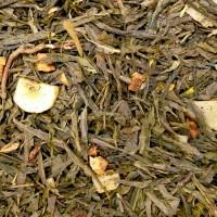 Grüner Tee aromatisiert Banane-Apfel-Erdbeere BIO