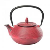 Teekanne aus Gusseisen mit 0,9l Inhalt in pink
