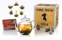 Geschenk-Set Holzbox Erblüh Weißer Tee
