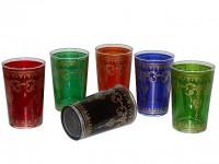 Teeglasset - 6 Teegläser in verschiedenen Farben - nicht Spülmaschinenfest