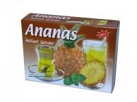 fuchtiger Ananas Tee als Pulver zum genießen und zum verfeinern von Sekt und Desserts