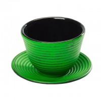 Teacup aus Gusseisen in hellgrün