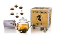 Geschenk-Set Holzbox Erblüh Schwarzer Tee
