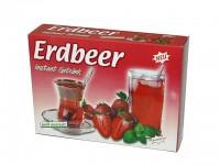 Intant-Getränk mit dem lieblich süßen Geschmack reifer Erdbeeren – auch zum verfeinern von Quark- und Puddingspeisen geeignet