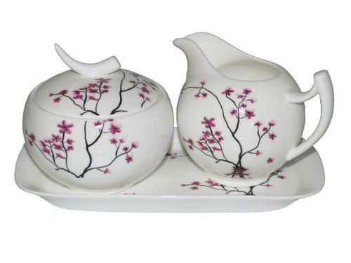 Milchkännchen & Zuckertopf Cherry Blossom von TeaLogic