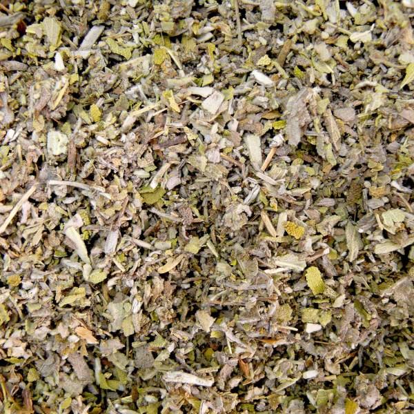 Kräutertee Salbeiblätter geschnitten