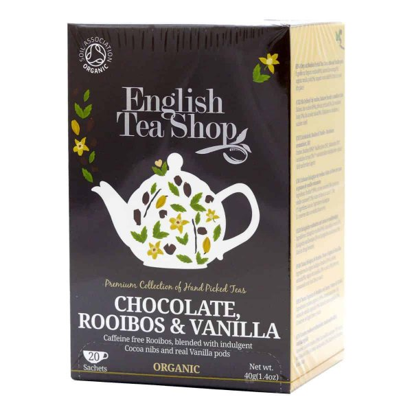 English Tea Shop - Schokolade Rotbusch & Vanille, BIO , 20 Teebeutel