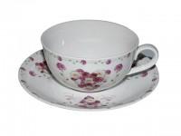 """Teetasse aus Porzellan mit Untertasse """"Lieschen"""""""