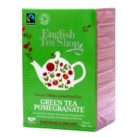 English Tea Shop - Grüner Tee Granatapfel, BIO Fairtrade, 20 Teebeutel