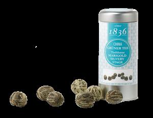 10 handgebundene Teerosen aus grünen Tee mit Ringelblumenblüten