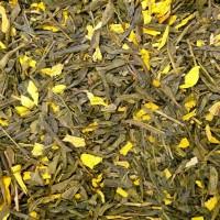 Grüntee Sencha - Pfirsich aromatisiert