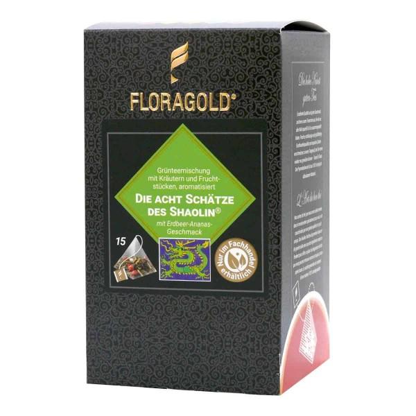 grüner Tee Acht Schätze des Shaolin ® - 15 Pyramiden-Teebeutel