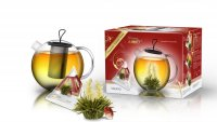 3er Teebox Teelini Jumbo Weißer Tee mit Glaskanne